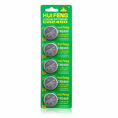 5PCS DL2450 CR2450 DL2450B LM2450 5029LC Button Cell Coin Watch Batteries
