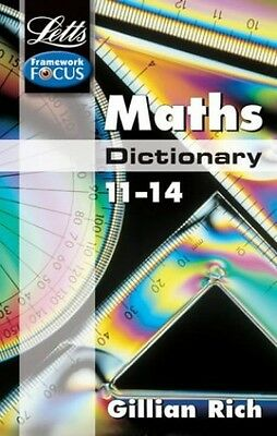 Letts Key Stage 3 Subject Dictionaries - Maths Dictio..., Gillian Rich Paperback