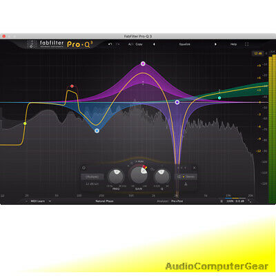 FabFilter PRO-Q 2 w/ Free Upgrade to PRO-Q 3 Equalizer EQ Fab Filter Plug-in NEW