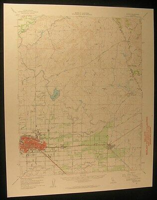 Merced California Yosemite Lake 1963 vintage USGS original Topo chart map