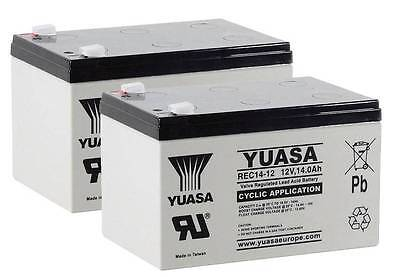 Pair of Yuasa REC14-12 Battery for Mobility Scooter 12V 14Ah - Uprated 12V 12Ah