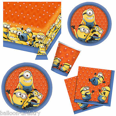 Despicable Me MINIONS Children's Party Plates Napkins Cups Tableware Listing