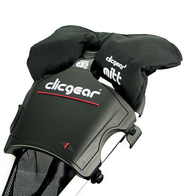 Clicgear Golf Trolley Cart Attachable Winter Mittens - Black 28% OFF RRP
