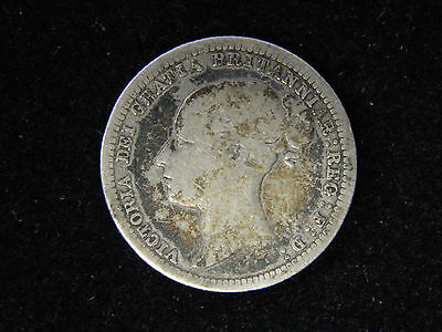 1880 Great Britain Sixpence - Silver - Victoria
