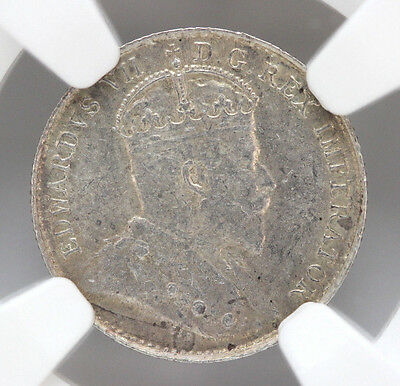 1905 Canada 5 Cents Silver KM13 Edward VII NGC MS61 #01272905g