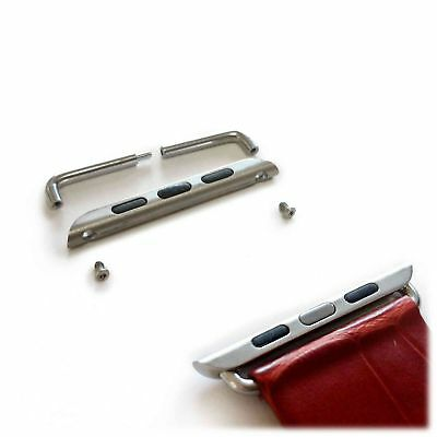 Tuff-Luv Stainless Steel Strap Adapter for the Apple Watch 1 / 2 - 38mm Silver