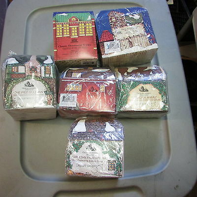 Department 56 Charles Dickens Heritage Village Christmas Ornament Lot Of 6 New