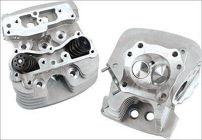 S&S Cycle Super Stock 79CC Silver Cylinder Heads for Harley Twin Cam 06-16