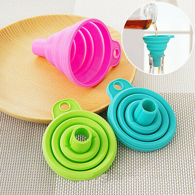 Hot Silicone collapsible fold heat resistant oil water liquid kitchen tools