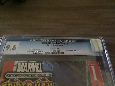 Ultimate Spider-Man 1 Cgc 9.6 White Pages Bagley