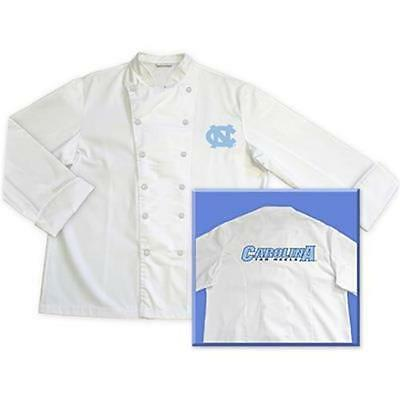 North Carolina Tarheels Chef Chefs Coat Jacket Tailgate BBQ Kitchen Cooking Gift