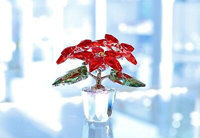 Swarovski Crystal Christmas Poinsettia Red Flower 905209 Brand New In Box