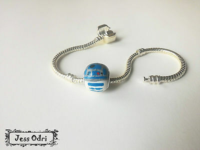 S . wars R2D2  star . W charms pulsera europea cuentas beads agujero grande