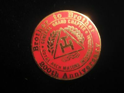 Vintage Red 200th Anniversary Masonic Tie Tac Pin General Grand chapter