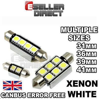 INTERIOR / FOOTWELL LED FESTOON 31mm 36mm 39mm 41mm CANBUS BULB PURE WHITE