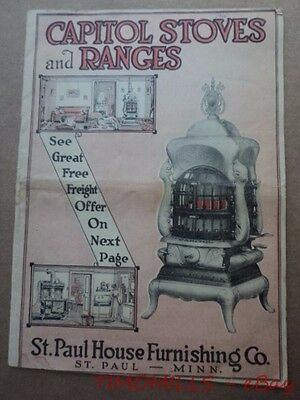 1916 St Paul House Furnishing Co. Capitol Stove Range Mission Furniture Catalog