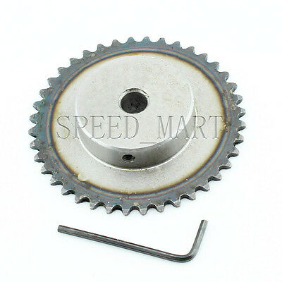 10mm Bore 40 Teeth 40T Metal Pilot Motor Gear Roller Chain Drive Sprocket