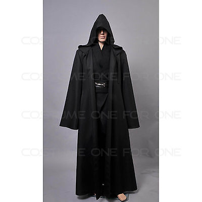 5pcs Star Wars Anakin Skywalker Black Cosplay Costume Outfit