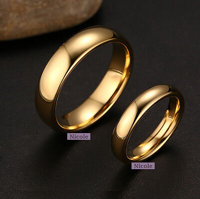 TITANIUM 18K Gold Filled Polish Comfort Fit Wedding Band Ring Size 6-12 RM12