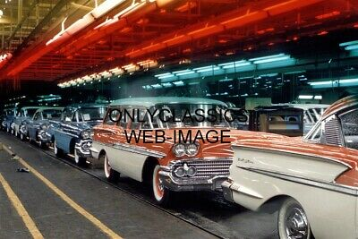 1958 Chevrolet GM Assembly Line making 1958 Models Photo Impala Bel Air Wagon ++