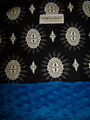 CARSEAT CANOPY BABY CAR SEAT Black & White / Royal Blue CANOPY COVER Maddox FLAW