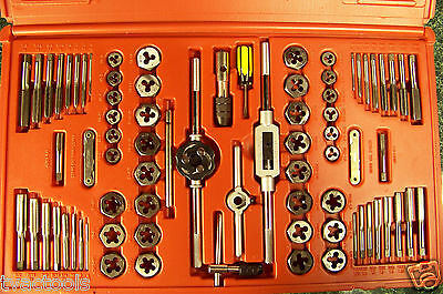 76pc High Alloy Steel TAP and Hexagon DIE SET SAE and METRIC w/ CASE Heavy duty