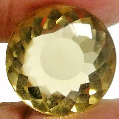 NATURAL UNIQUE YELLOW NATURAL CITRINE GEMSTONES (15.1 mm) ROUND CABOCHON-CUT