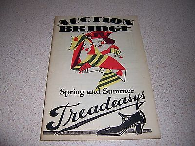 1920s TREADEASYS WOMENS HIGH-HEEL SHOES AUCTION BRIDGE BOOK CATALOG