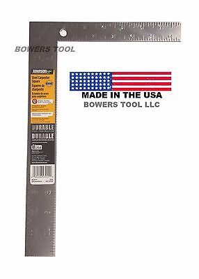 Johnson 8 x 12in. English Steel Carpenter Square SAE Inch Standard 430 USA