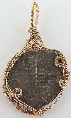 1622 Atocha Shipwreck, Mel Fisher. Spanish 8 Reales, Made Into Pendant.