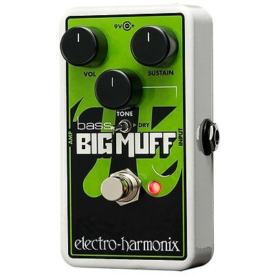 Electro-Harmonix Nano Bass Big Muff Distortion Bass Guitar Effects Pedal BNIB