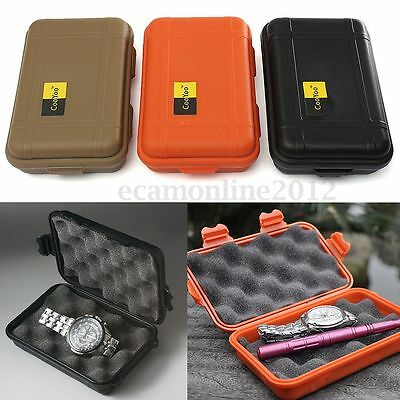 S/L Waterproof Shockproof Storage Airtight Survival Container Carry Box Case Bag