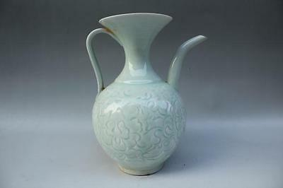 Chinese Antique Long Quan Ware Porcelain Wine Pot with Flower AS262