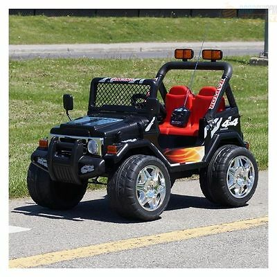 Kids 12V Raptor Electric Ride On Car 4X4 Jeep | 2-Seats | Remote Control | Black