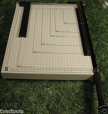 "Office PAPER CUTTER Trimmer Cut Legal Size BIG 12"" x 16"" Metal Construction NEW"