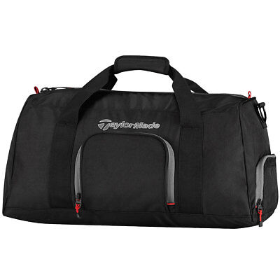 TaylorMade Golf 2017 Players Duffle Bag Holdall - Black/Grey/Red