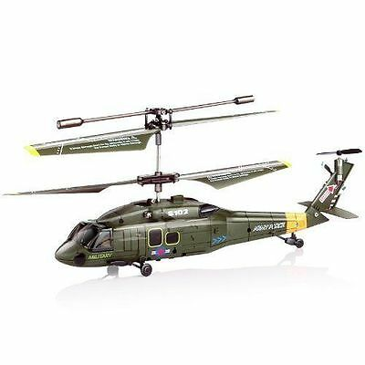 GENUINE SYMA S102G 3CH GYRO RTF UH-60 BLACK HAWK INDOOR RC HELICOPTER US Seller