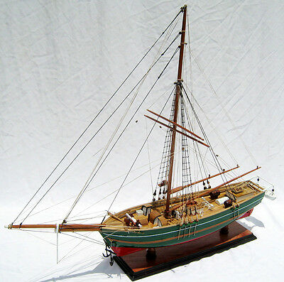 "GJOA Sailing Ship 28"" - Handcrafted Wooden Ship Model"
