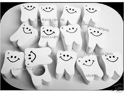 TOOTH FAIRY KEEPSAKE BOXES Tooth Shaped Wooden 12PC LOT