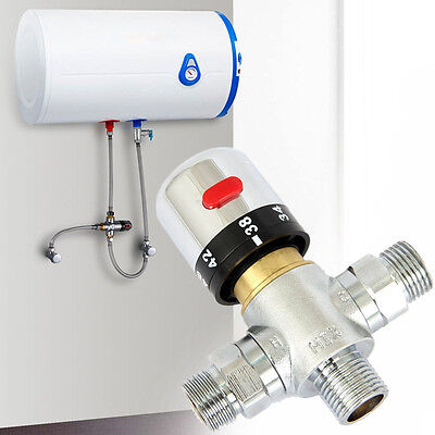 Thermostatic Copper Valve Mixer Mixing Cold&Hot Shower Solar Water Heater Faucet