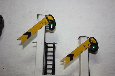 hornby o gauge signal with working lights very good plus  K31269