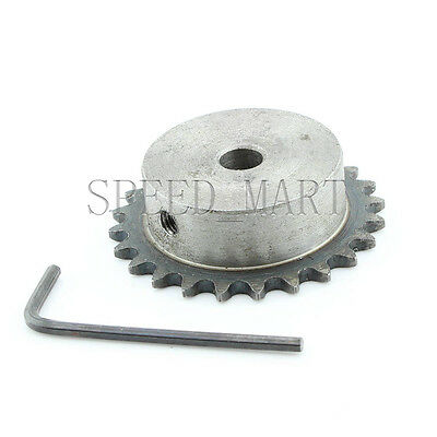 10mm Bore 24 Teeth 24T Metal Pilot Motor Gear Roller Chain Drive Sprocket