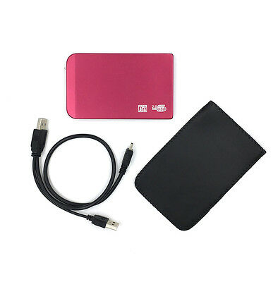 """New 160GB External Hard Drive Portable 2.5"""" USB HDD  + Pouch For PS3 Red"""
