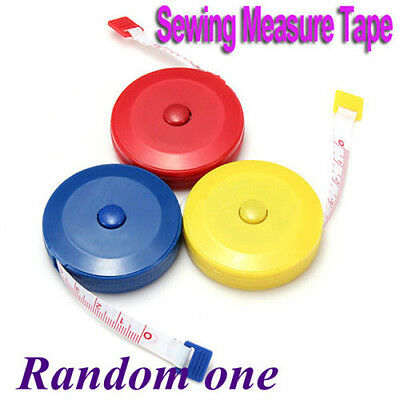 """Mini Retractable Sewing Tailor Cloth Soft Flat Tape Body Measure Ruler 60"""" 1.5M"""