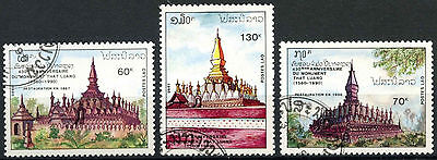 Laos 1990 SG#1203-5 That Luang Cto Used Set #D6385