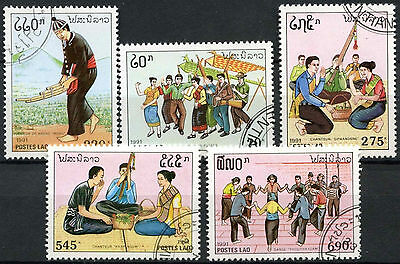 Laos 1991 SG#1262-6 Traditional Music Cto Used Set #D6388