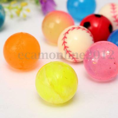 10x Colorful 27mm Bouncy Jet Balls Kids Toy For Pinata Loot Party Bag Fillers