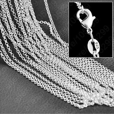 "Wholesale 1PCS 16-30"" Fashion Jewelry 925 Silver Plated Cross Chains Necklaces"