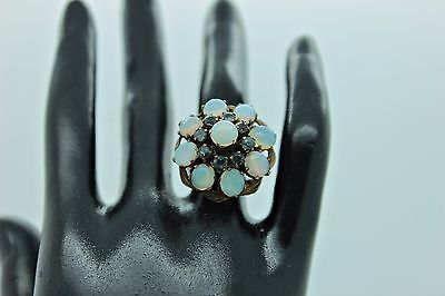 Antique Original Low Gold Alexandrit And Opal Stone Decorated Amazin Lady Ring