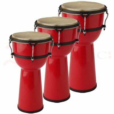 Stagg Djembe Drums - Fibreglass Red